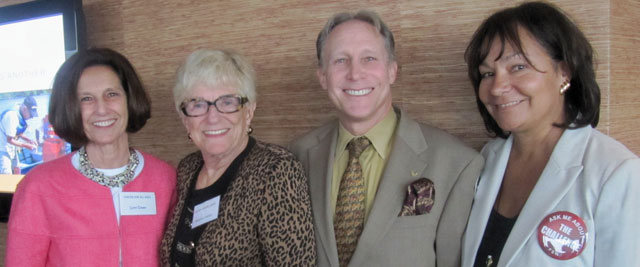 Left to right: Lynn Green, Patricia Lanza, FSW Board Member Tony Lembeck and FSW CEO Susan Wayne.