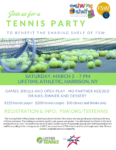Tennis Party to Benefit The Sharing Shelf
