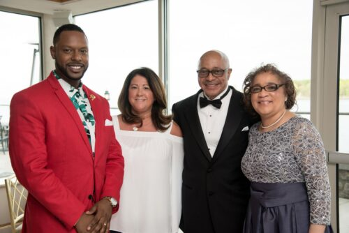 Group of four people standing at the FSW Star Gala