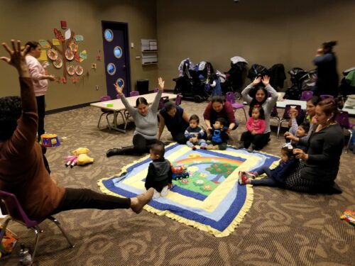 Mothers and babies at a playgroup