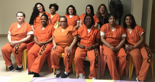 EMERGE inmates at graduation